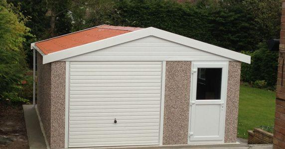 Concrete workshop with upvc fascias 01384 864858  RWH Concrete Garages.