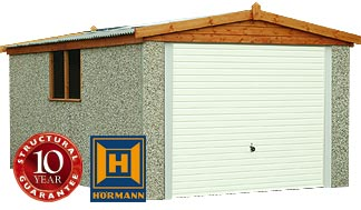 RWH concrete garages 01384 864858 apex single with timber fascias.