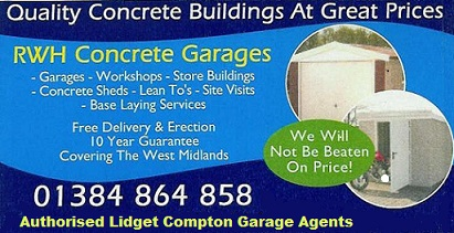 rwh concrete garages